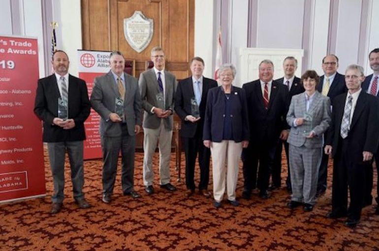Governor Ivey Honors Eight Winners with 2019 Trade Excellence Awards