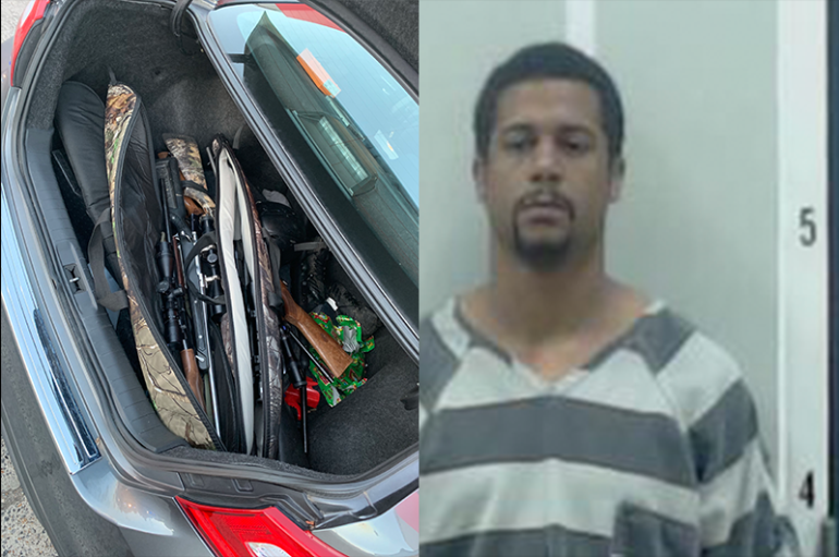Fort Payne man taken into custody with Stolen Firearms