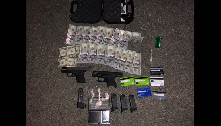 Meth, Handguns, and Cash seized after traffic stop near Kilpatrick