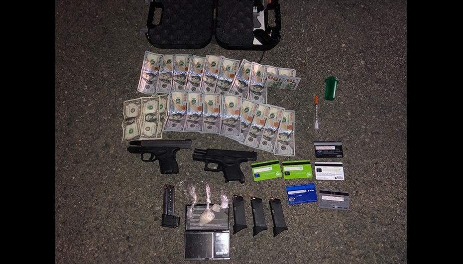 Meth, Handguns, and Cash seized after traffic stop near Kilpatrick