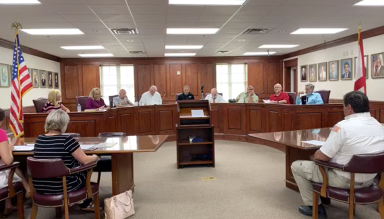 Fort Payne Presents BOE with Donation