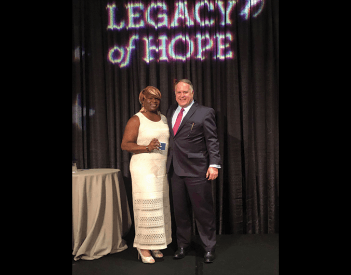 Raye Honored by Legacy of Hope