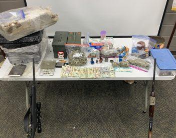 Narcotics & Interdiction Unit seizes 25 Pounds of Marijuana, Meth, & Guns