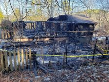 Fire Destroys Officer's Home