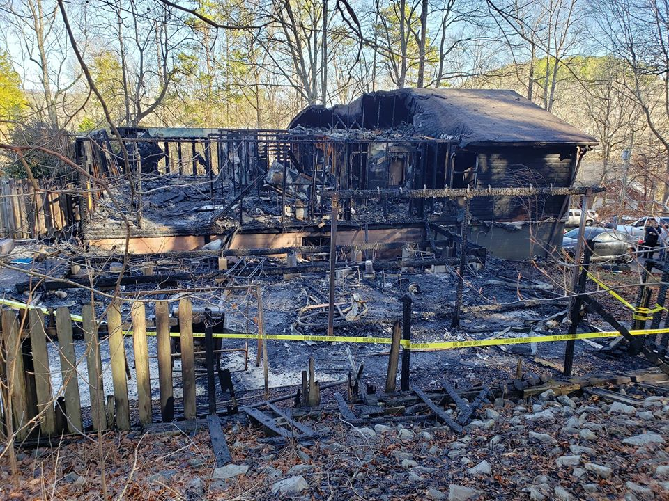 Fire Destroys Officer's Home