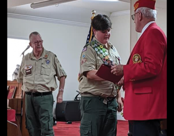 Brown Celebrates 100th Eagle Scout
