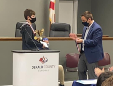 Thompson Wins County Spelling Bee