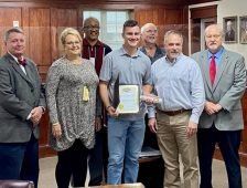 Fort Payne Council presents McPherson with Key to the City