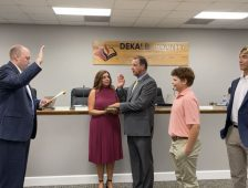 Former Student Swears in New Superintendent
