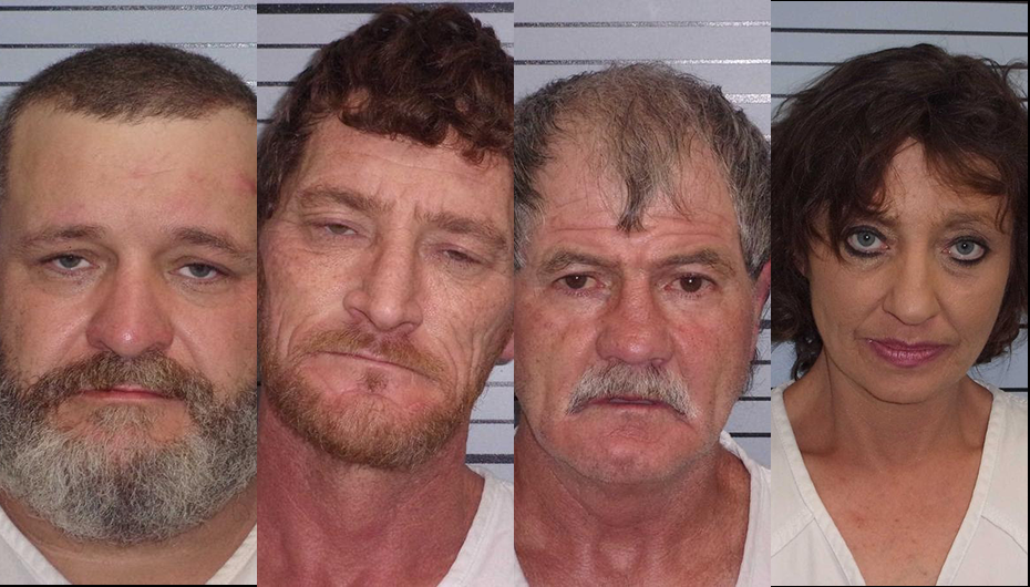 Four arrested after search warrant executed on Highway 40