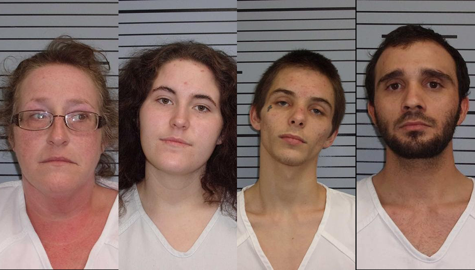 Four arrested after door kicked in on Highway 35 in Section