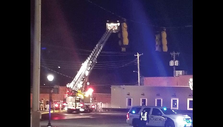 Fort Payne Battles Downtown Fire