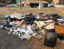 Trash Scattered Near FP Nursing Home
