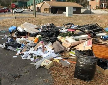 Trash Scattered Near FP Nursing Home